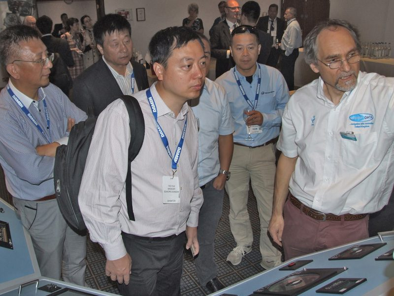 Phil Yearby (right) demonstrates our latest equipment to a delegation of interested Chinese visitors